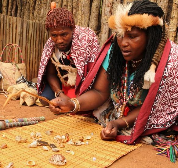 A Sangoma and her apprentice ...
