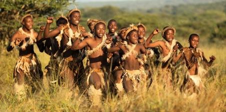 Young Zulu dancers ...