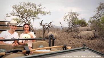 Creative photo shoot with Rhinos ...