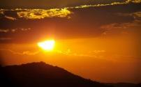 Even a sunset - through binoculars ...