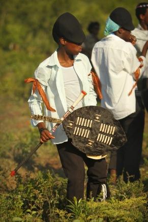 A young Zulu at a wedding ...
