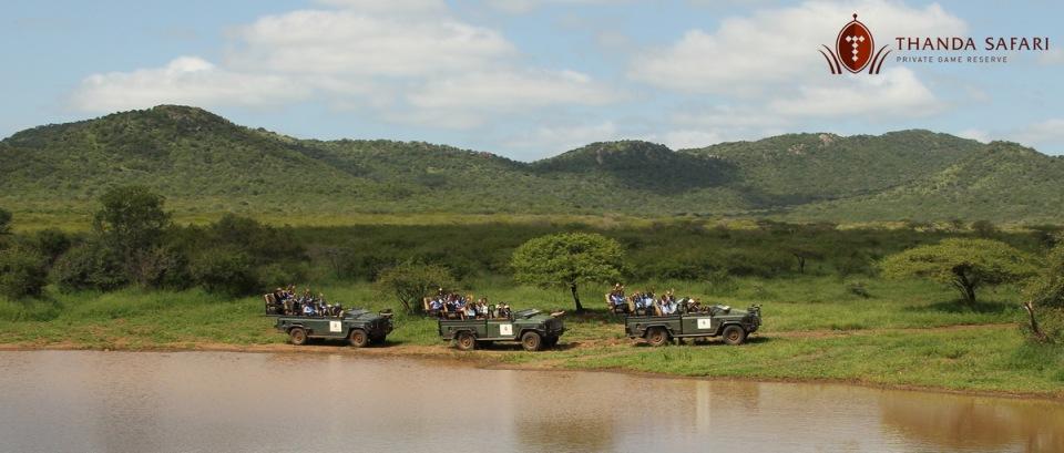 Enjoying the beautiful Thanda Safari scenery ...